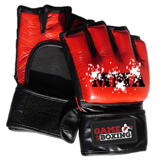 e7ee53a573808 MMA gloves in leather open palm style – Game of Boxing